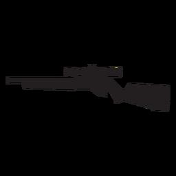 Silhueta de rifle sniper cinza