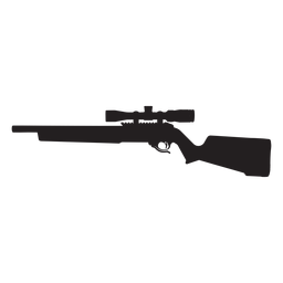 Sniper rifle grey silhouette