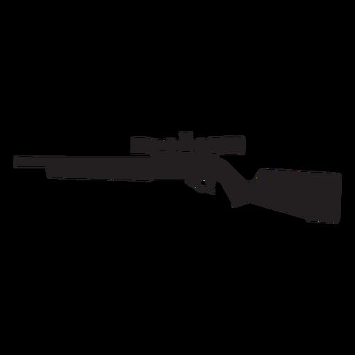 Rifle francotirador silueta gris Transparent PNG
