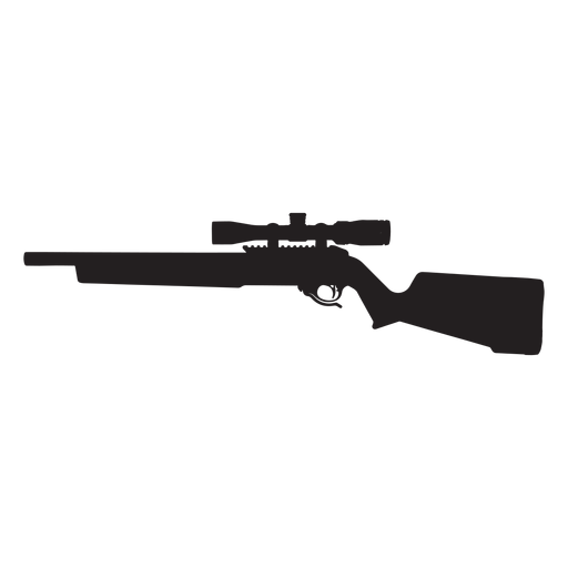 Sniper rifle grey silhouette Transparent PNG
