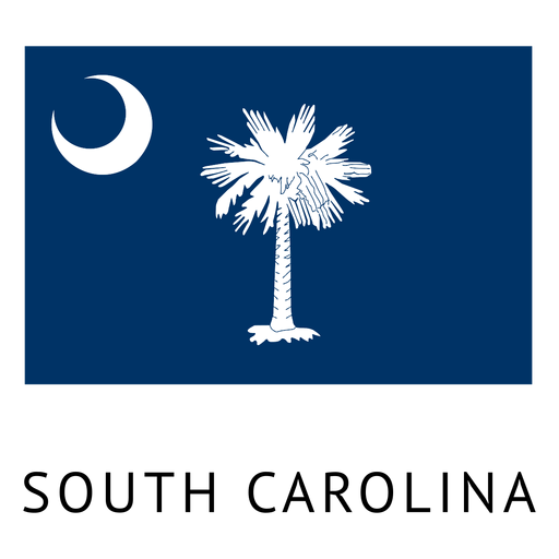 South carolina state flag Transparent PNG