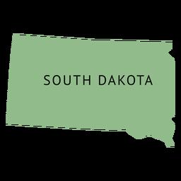 Mapa llano del estado de dakota del sur
