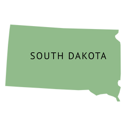 South dakota state plain map