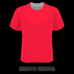 Desenhos animados da camisa do futebol do copo de mundo de Coreia do Sul