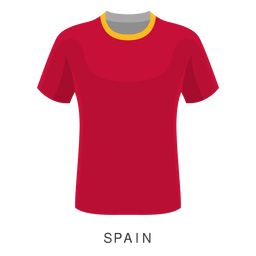 Desenhos animados de camisa de futebol Copa do mundo de Espanha