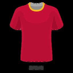 Dibujos animados de camiseta de fútbol de copa mundial de españa