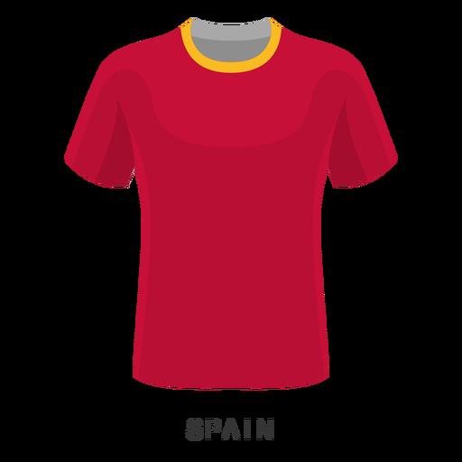 Desenhos animados de camisa de futebol Copa do mundo de Espanha Transparent PNG