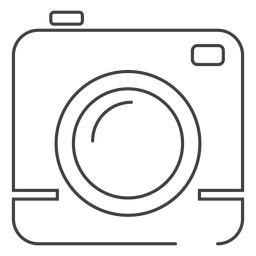 Square camera stroke icon