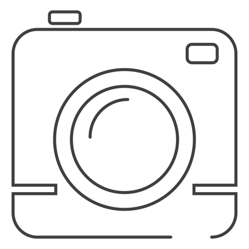 Square camera stroke icon Transparent PNG