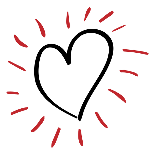 Sunny heart sticker Transparent PNG