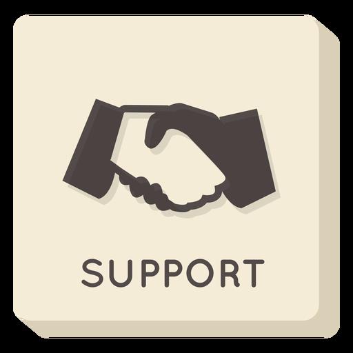 Icono cuadrado de soporte