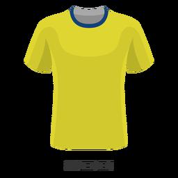 Dibujos animados de camiseta de fútbol de la copa mundial de suecia
