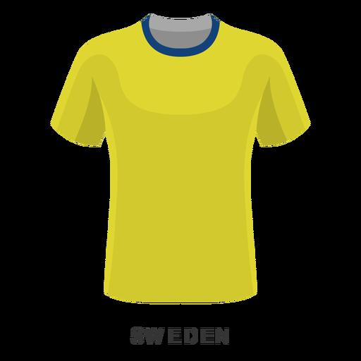Desenhos animados da camisa do futebol do campeonato do mundo da Suécia Transparent PNG