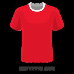 Dibujos animados de camiseta de fútbol de copa mundial de Suiza