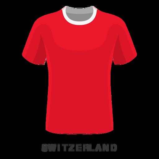 Desenhos animados da camisa do futebol do campeonato do mundo de Switzerland Transparent PNG