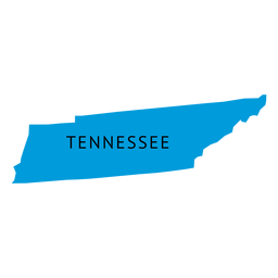 Mapa da planície do estado do Tennessee