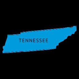 Mapa plano do estado do Tennessee