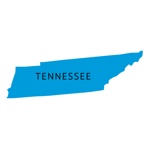 Mapa plano do estado do Tennessee - Baixar PNG/SVG Transparente
