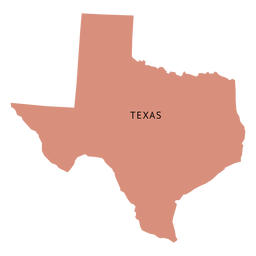 Mapa da planície do estado do Texas