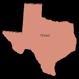 Mapa plano del estado de Texas