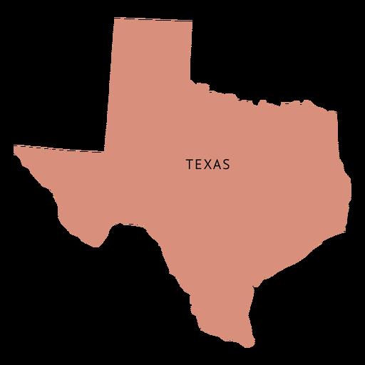 Mapa plano del estado de Texas Transparent PNG
