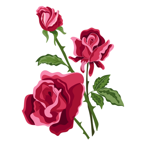 Icono de flores de tres rosas