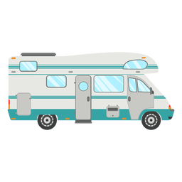 Vetor camper de viagem