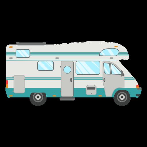 Vector de camper de viaje