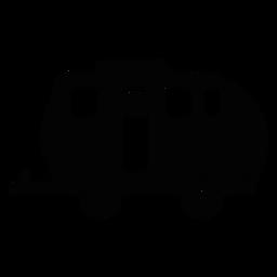 Icono plano de remolque de viaje