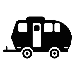 Travel trailer flat icon