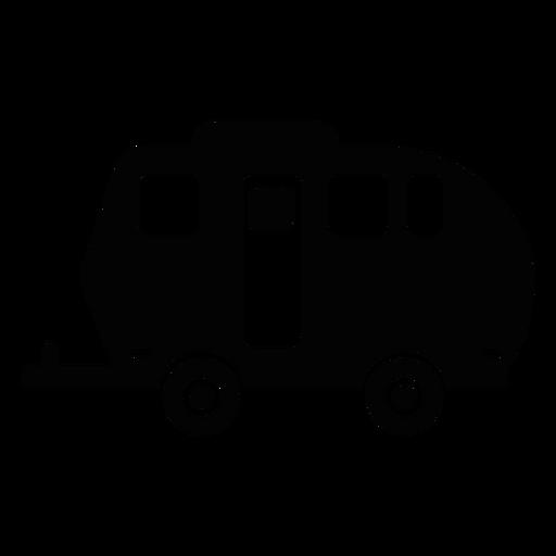 Ícone plano do trailer de viagem