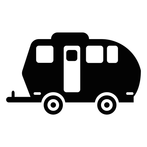 Travel trailer flat icon Transparent PNG