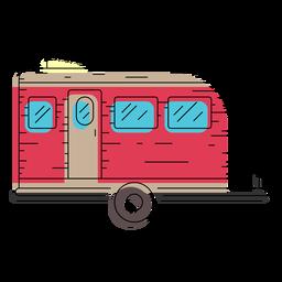 Ilustração de trailer de viagem