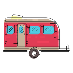 Travel trailer illustration