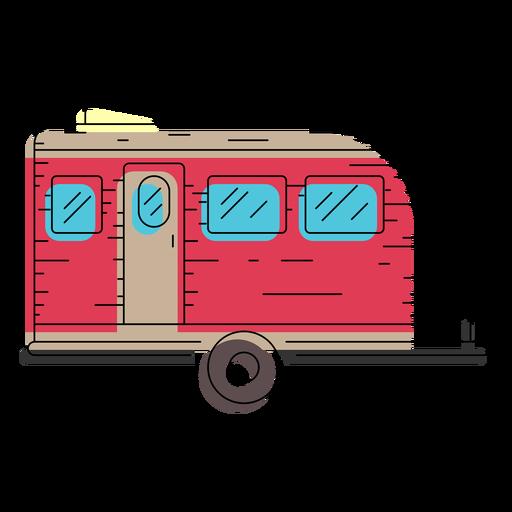 Travel trailer illustration Transparent PNG