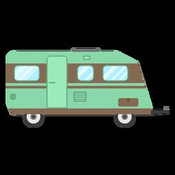 Viajes trailer vector
