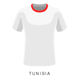 Desenhos animados da camisa do futebol da copa do mundo de Tunísia