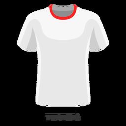 Dibujos animados de camiseta de fútbol de la copa mundial de Túnez