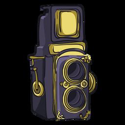 Dibujos animados de cámara de doble lente