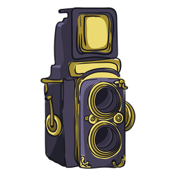 Twin lens camera cartoon