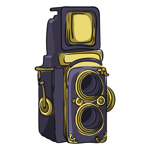 Twin lens camera cartoon