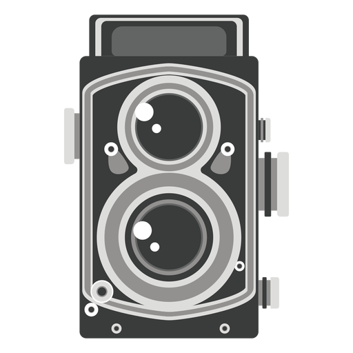 Twin lens camera graphic Transparent PNG
