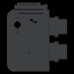 Icono de cámara de doble lente gris