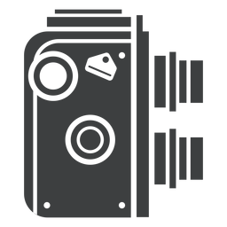 Twin lens camera grey icon