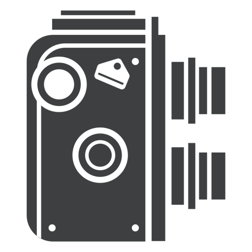 Twin lens camera grey icon Transparent PNG