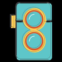 Icono de cámara de lente doble