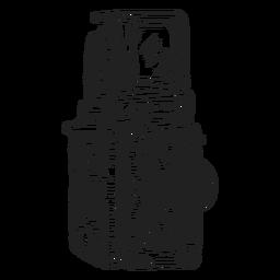 Bosquejo de la cámara de doble lente