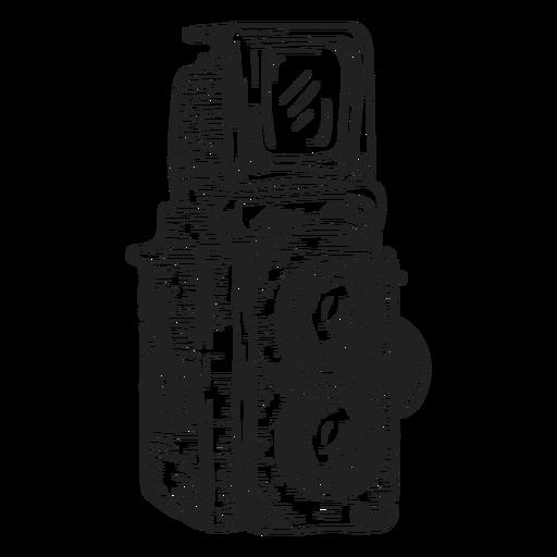 Boceto de cámara de doble lente Transparent PNG