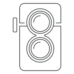 Twin lens camera stroke icon