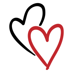 Adesivo de dois corações